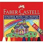 KIRTASİYE 100 FABER CASTEL 8 Lİ PASTEL BOYA