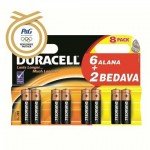 DURACELL AAA İNCE PİL 6+2