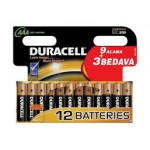 DURACELL AAA İNCE PİL 9+3